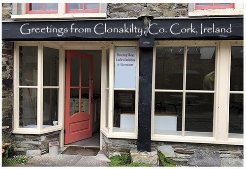 Greetings from Clonakilty, Ireland